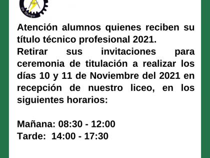 INFORMACIÓN TITULACIÓN 2021